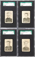 Hockey Cards:Lots, 1924 Crescent Ice Cream Falcon-Tigers SGC-Graded Group of (4)....
