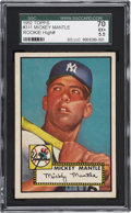 Baseball Cards:Singles (1950-1959), 1952 Topps Mickey Mantle #311 SGC 70 EX+ 5.5....