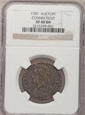 1787 COPPER Connecticut Copper 'Auctopi' XF40 Brown NGC. NGC Census: (1/0). PCGS Population (0/2). (#376)...(PCGS# 376)