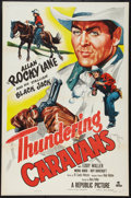 "Movie Posters:Western, Thundering Caravans (Republic, 1952). One Sheet (27"" X 41""). Western.. ..."
