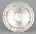 Silver Holloware, American:Plates, AN AMERICAN SILVER FOOTED PLATE WITH RETICULATED RIM . GorhamManufacturing Co., Providence, Rhode Island, 1923. Marks: (lio...