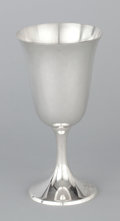 Silver Holloware, American:Water Goblet, A SET OF SIX AMERICAN SILVER GOBLETS. Manchester Silver Co.,Providence, Rhode Island, circa 1930. Marks: (cross & crown),... (Total: 6 Items Items)