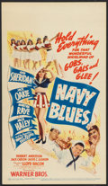"""Movie Posters:Comedy, Navy Blues (Warner Brothers, 1941). Midget Window Card (8"""" X 14""""). Comedy.. ..."""