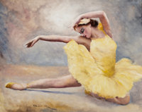 PAL FRIED (Hungarian/American, 1893-1976) Prima Ballerina Oil on canvas 24 x 30 in. Signed low