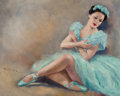 Pin-up and Glamour Art, PAL FRIED (Hungarian/American, 1893-1976). Blue Ballerina.Oil on canvas. 24 x 30 in.. Signed lower left. ...