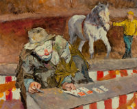 PAL FRIED (Hungarian/American, 1893-1976) Solitaire Oil on canvas 24 x 30 in. Signed upper lef