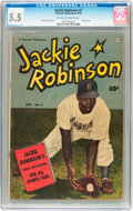 Golden Age (1938-1955):Miscellaneous, Jackie Robinson #3 (Fawcett, 1950) CGC FN- 5.5 Off-white to white pages....