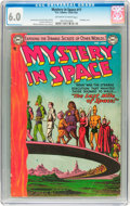 Golden Age (1938-1955):Science Fiction, Mystery in Space #17 (DC, 1954) CGC FN 6.0 Off-white to whitepages....