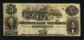 Obsoletes By State:Tennessee, Memphis, TN- Southern Bank of Tennessee $5 Aug. 1, 1854. ...
