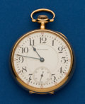 Timepieces:Pocket (post 1900), Waltham, 23 Jewel, Vanguard, in a 14k Gold Ball Watch Co. Case. ...