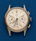 Timepieces:Wristwatch, Gallet, Three Register, Steel Chronograph. ...