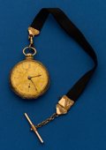 Timepieces:Pocket (pre 1900) , Robinson, Liverpool, Fancy Dial, 18k, Lever Fusee. ...
