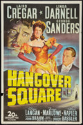 """Movie Posters:Crime, Hangover Square (20th Century Fox, 1945). One Sheet (27"""" X 41"""").Crime.. ..."""