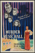 "Movie Posters:Mystery, Murder in the Music Hall (Republic, 1946). One Sheet (27"" X 41""). Mystery.. ..."