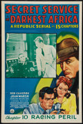 "Movie Posters:Action, Secret Service in Darkest Africa (Republic, 1943). One Sheet (27"" X41"") Chapter 10 -- ""Racing Peril."" Serial.. ..."