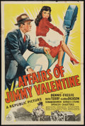 """Movie Posters:Comedy, Affairs of Jimmy Valentine (Republic, 1942). One Sheet (27"""" X 41""""). Comedy.. ..."""