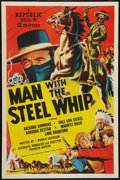 """Movie Posters:Serial, Man with the Steel Whip (Republic, 1954). One Sheet (27"""" X 41""""). Serial.. ..."""