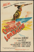 "Movie Posters:War, The Cross of Lorraine (MGM, 1943). One Sheet (27"" X 41""). War.. ..."