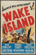 "Movie Posters:War, Wake Island (Paramount, 1942). One Sheet (27"" X 41""). War.. ..."