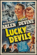 "Movie Posters:Mystery, Lucky Devils (Universal, 1941). One Sheet (27"" X 41""). Mystery....."