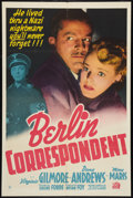 "Movie Posters:War, Berlin Correspondent (20th Century Fox, 1942). One Sheet (27"" X41""). War.. ..."