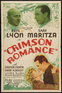 "Crimson Romance (Mascot, 1934). One Sheet (27"" X 41""). Adventure"