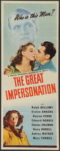 "Movie Posters:Adventure, The Great Impersonation (Universal, 1942). Insert (14"" X 36"").Adventure.. ..."