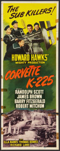 "Movie Posters:War, Corvette K-225 (Realart, R-1948). Insert (14"" X 36""). War.. ..."