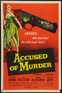 """Accused of Murder (Republic, 1957). One Sheet (27"""" X 41""""). Mystery"""