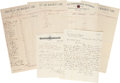 Autographs:Military Figures, [Jefferson Davis] Documents and Letters Relating to the Davis Relief and Monument Fund. Containing three documents (each wit... (Total: 5 Items)