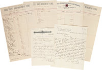 [Jefferson Davis] Documents and Letters Relating to the Davis Relief and Monument Fund. Containing three documents (e