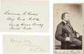 "Autographs:Military Figures, Lawrence Ross Signature, Samuel Maxey Signature, and Andrew Jackson Hamilton Carte de Visite (Unsigned). Ross' signature (4""... (Total: 3 Items)"
