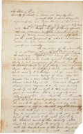 """Autographs:Military Figures, Mathew D. Ector Legal Document Signed containing slavery content. One and one-quarter page, 7.75"""" x 12.5"""", Rusk County, Texa..."""
