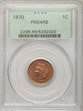 Proof Indian Cents: , 1870 1C PR64 Red and Brown PCGS. PCGS Population (75/36). NGCCensus: (41/45). Mintage: 1,000. Numismedia Wsl. Price for pr...