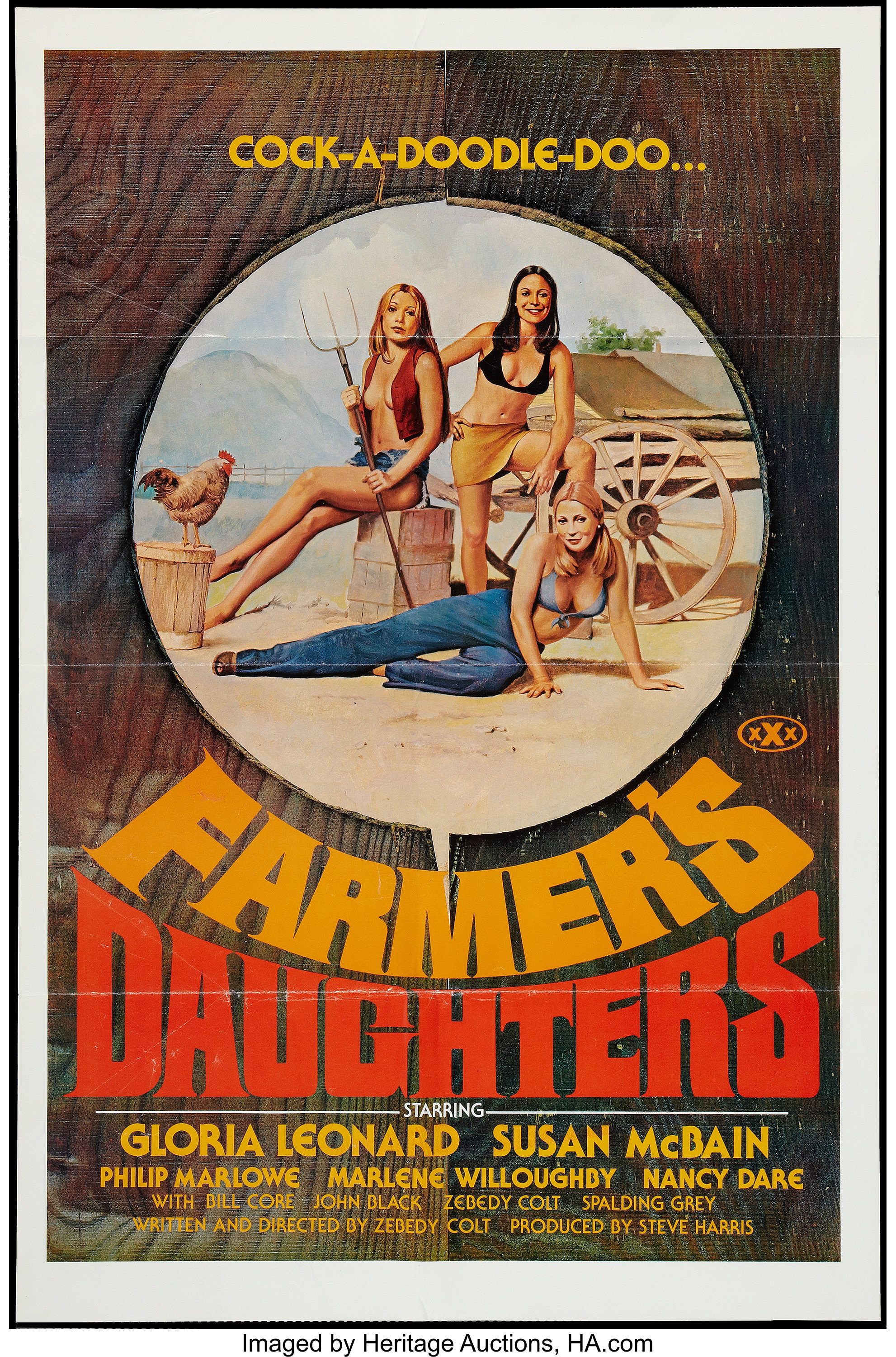 "Alpha Blue Movie farmer's daughters (alpha blue, 1976). one sheet (27"" x 41"