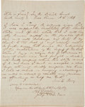 "Autographs:Statesmen, Texas Lawyer's Oath. Two and one-half pages, 8"" x 10"", ErathCounty, Texas, October 20, 1869. This handwritten oath was sign..."