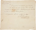 "Autographs:Military Figures, Radford Berry Document Signed. One page (in Spanish), 8"" x 6.75"",""Ayuntam[ien] de Nacogdoches"", April 1, 1835, conc..."