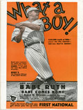 "Baseball Collectibles:Publications, 1927 ""First National News"" Magazine, With Babe Ruth On InsideCover. ..."