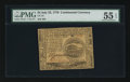 Colonial Notes:Continental Congress Issues, Continental Currency July 22, 1776 $4 PMG About Uncirculated 55EPQ.. ...