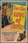 """Movie Posters:Drama, For the Love of Rusty (Columbia, 1947). One Sheet (27"""" X 41"""").Drama.. ..."""