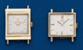 Timepieces:Wristwatch, Two Omega, 14 k Wristwatches. ... (Total: 2 Items)
