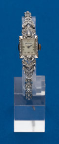 Timepieces:Wristwatch, Swiss, Ladies Diamond & Gold Wristwatch. ...