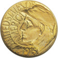 Commemorative Gold: , 1915-S G$1 Panama-Pacific Gold Dollar MS65 NGC. A highly lustrousGem with exceptional eye appeal. This piece is fully bril...