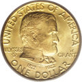 Commemorative Gold: , 1922 G$1 Grant with Star MS66 PCGS. Two varieties of the Grant golddollar exist - one with a star above the name GRANT, an...
