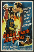 "Movie Posters:War, Good Luck, Mr. Yates (Columbia, 1943). One Sheet (27"" X 41""). War...."