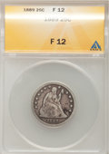 Seated Quarters: , 1889 25C Fine 12 ANACS. NGC Census: (0/167). PCGS Population(0/185). Mintage: 12,000. Numismedia Wsl. Price for problem fr...