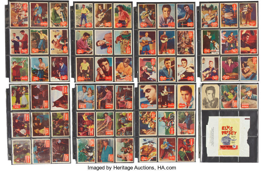 Elvis Presley 1956 Trading Card Set With Gum Wrapper Music Lot