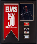 Music Memorabilia:Memorabilia, Elvis Presley International Hotel Promo Banner and Memorabilia Display....