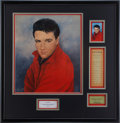 Music Memorabilia:Autographs and Signed Items, Elvis Presley Signed Roustabout Promo Print withMemorabilia....
