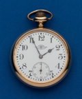 Timepieces:Pocket (post 1900), Ball, 21 Jewel, 16 Size, Official Standard. ...